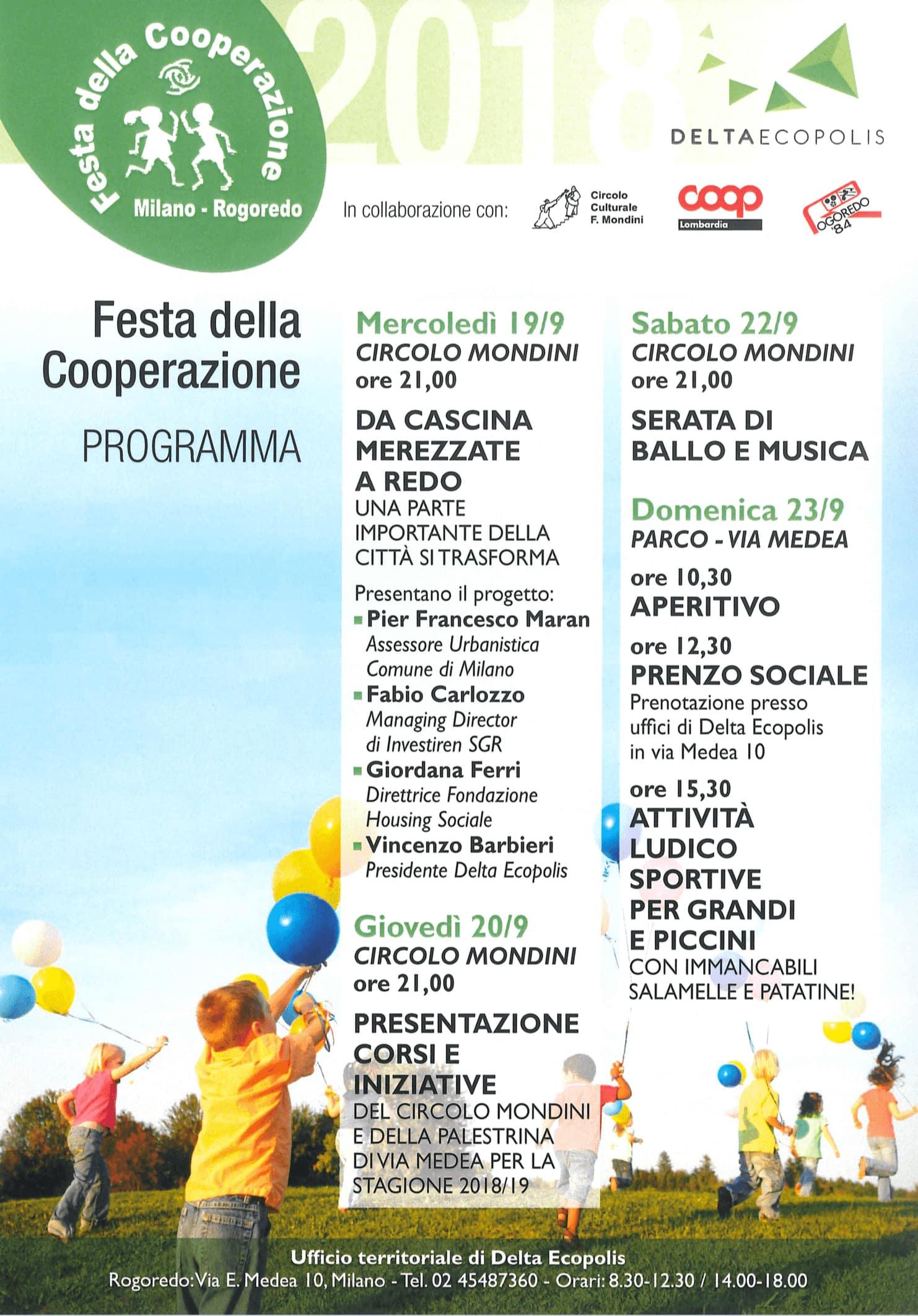 programma Milano 26 sett 18 - cambiare l'italia cooperando
